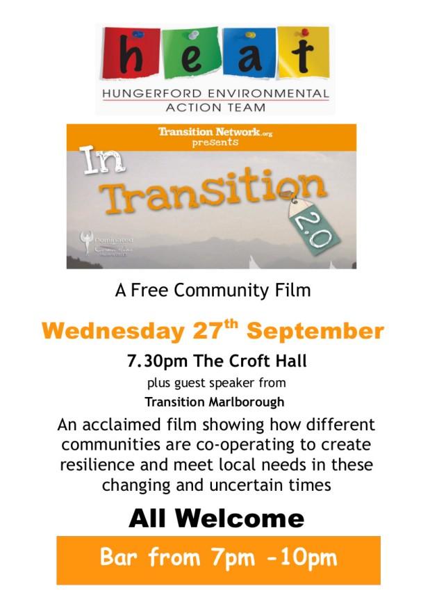 Free Film – 27th Sept Croft Hall7.30pm